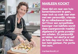 Artikel over MarleenKookt in Uitkrant