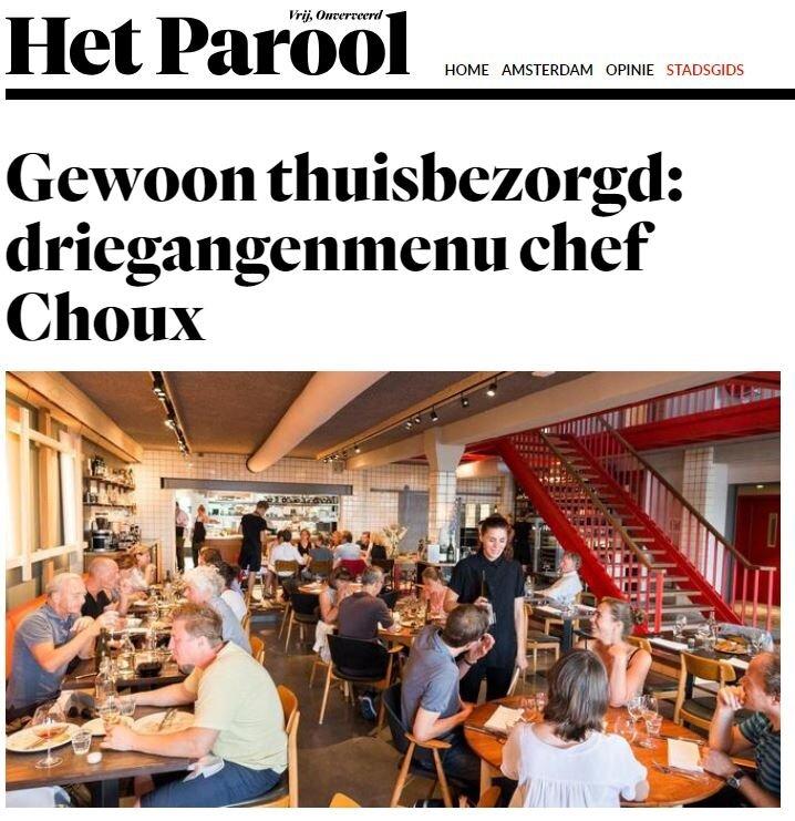 Gewoon thuisbezorgd: 3 gangenmenu Chef Choux